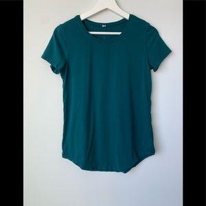 Lululemon Teal Athletic Shirt/T-Shirt